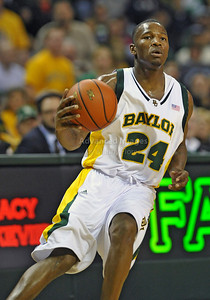 Feb 16th, 2010:   Baylor Guard Lacedarius Dunn #24 gets a rebound during a NCAA Basketball game between the Texas Tech Red Raiders and the Baylor Bears at the Ferrell Center at Waco, Texas Baylor wins 88-70