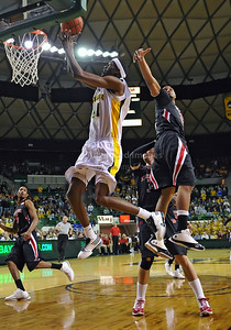 Feb 16th, 2010:   Baylor Forward Anthony Jones #41 gets a rebound and gets a layup during a NCAA Basketball game between the Texas Tech Red Raiders and the Baylor Bears at the Ferrell Center at Waco, Texas Baylor wins 88-70