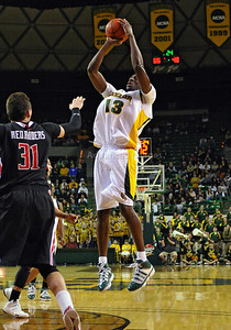 Feb 16th, 2010:   Baylor F/C Ekpe Udoh #13  in action during a NCAA Basketball game between the Texas Tech Red Raiders and the Baylor Bears at the Ferrell Center at Waco, Texas Baylor wins 88-70