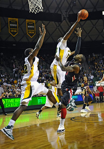 Feb 16th, 2010:   Baylor F/C Ekpe Udoh #13 gets a block during a NCAA Basketball game between the Texas Tech Red Raiders and the Baylor Bears at the Ferrell Center at Waco, Texas Baylor wins 88-70