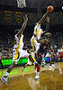 Feb 16th, 2010:  <br /> Baylor F/C Ekpe Udoh #13 gets a block<br /> during a NCAA Basketball game between the Texas Tech Red Raiders and the Baylor Bears at the Ferrell Center at Waco, Texas<br /> Baylor wins 88-70