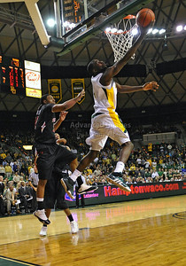 Feb 16th, 2010:   Baylor Forward Quincy Acy gets a reverse layup during a NCAA Basketball game between the Texas Tech Red Raiders and the Baylor Bears at the Ferrell Center at Waco, Texas Baylor wins 88-70