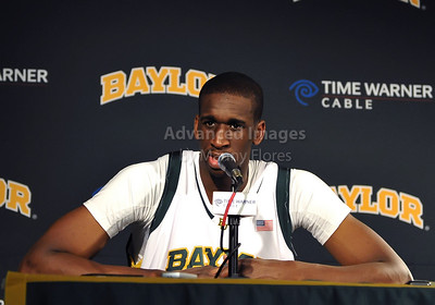 Feb 16th, 2010:   Baylor F/C Ekpe Udoh #13 in an interview after an NCAA Basketball game between the Texas Tech Red Raiders and the Baylor Bears at the Ferrell Center at Waco, Texas Baylor wins 88-70