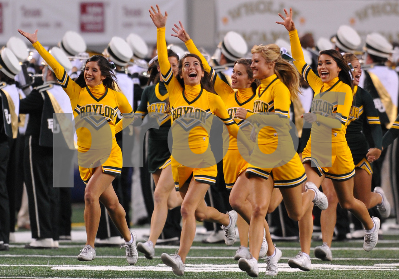 November 28th, 2009:  <br /> Baylor Cheerleader in action during a NCAA Football game between the Baylor Bears and theTexas Tech Red Raiders at Cowboy Stadium in Arlington, TX.  <br /> Texas Tech wins 20-13.