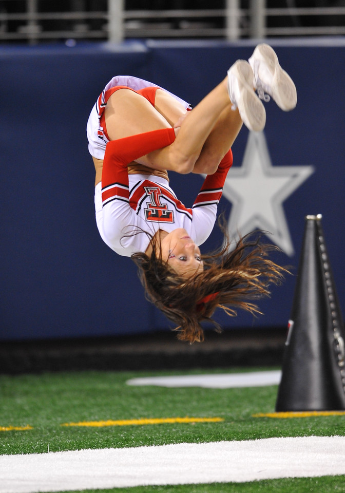 November 28th, 2009:  <br /> Texas Tech Cheerleaders in action during a NCAA Football game between the Baylor Bears and theTexas Tech Red Raiders at Cowboy Stadium in Arlington, TX.  <br /> Texas Tech wins 20-13.
