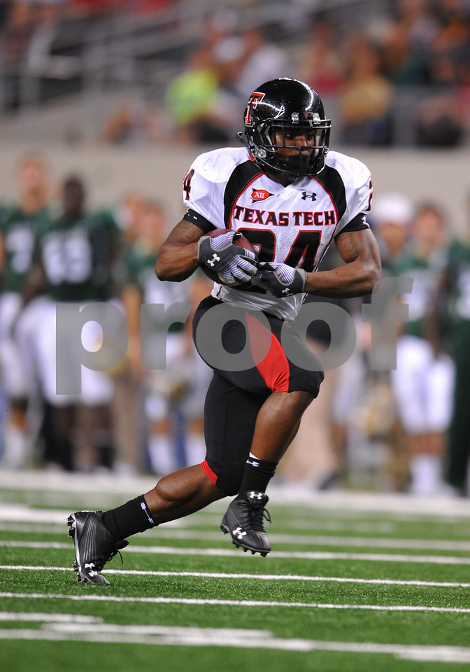 November 28th, 2009:  <br /> Texas Tech running back Eric Stephens #24 in action during a NCAA Football game between the Baylor Bears and theTexas Tech Red Raiders at Cowboy Stadium in Arlington, TX.  <br /> Texas Tech wins 20-13.