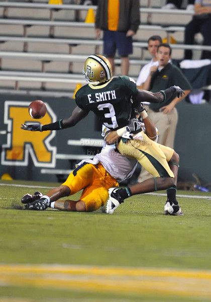 October 3rd 2009:  <br /> Baylor wide receiver Ernest Smith #3<br /> in action during a NCAA Football game between the Baylor Bears and the Kent State Golden Flashes at Floyd Casey  Stadium in Waco, TX.  <br /> Baylor wins 31-15.