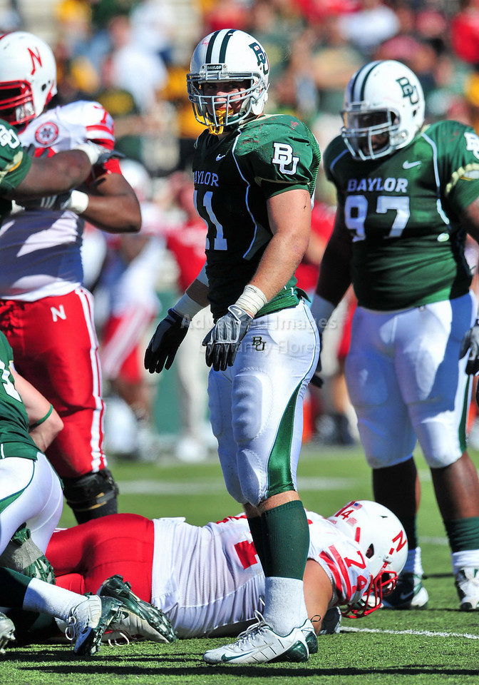 October 31st, 2009:  <br /> Baylor linebacker Joe Pawelek #41 in action during a NCAA Football game between the Nebraska Cornhuskers and Baylor Bears at Floyd Casey  Stadium in Waco, TX. Nebraska wins 20-10.