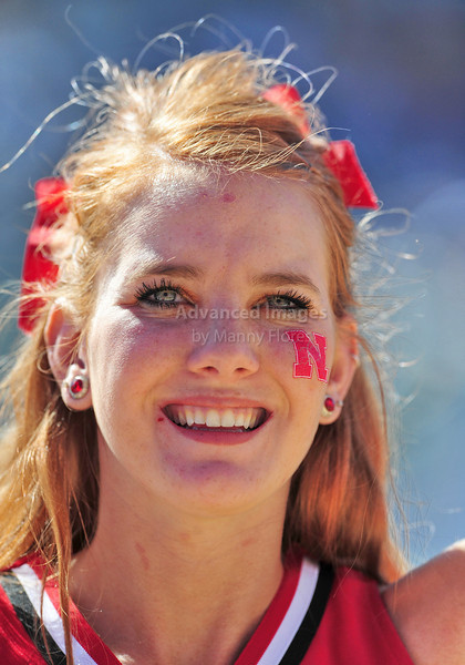 October 31st, 2009:  <br /> Nebraska Cheer in action during a NCAA Football game between the Nebraska Cornhuskers and Baylor Bears at Floyd Casey  Stadium in Waco, TX.  <br /> Nebraska wins 20-10.