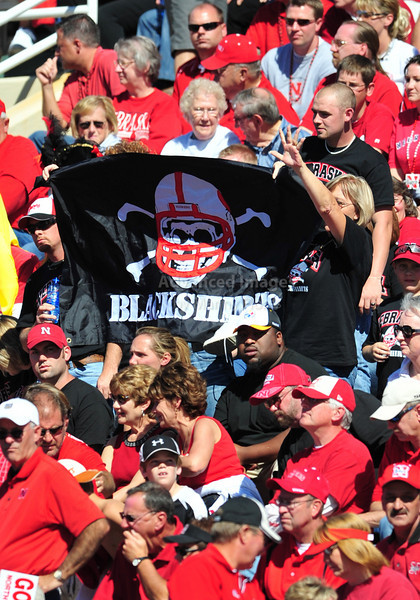 October 31st, 2009:  <br /> Nebraska Cornhusker's fans cheer during a NCAA Football game between the Nebraska Cornhuskers and Baylor Bears at Floyd Casey  Stadium in Waco, TX.  <br /> Nebraska wins 20-10.