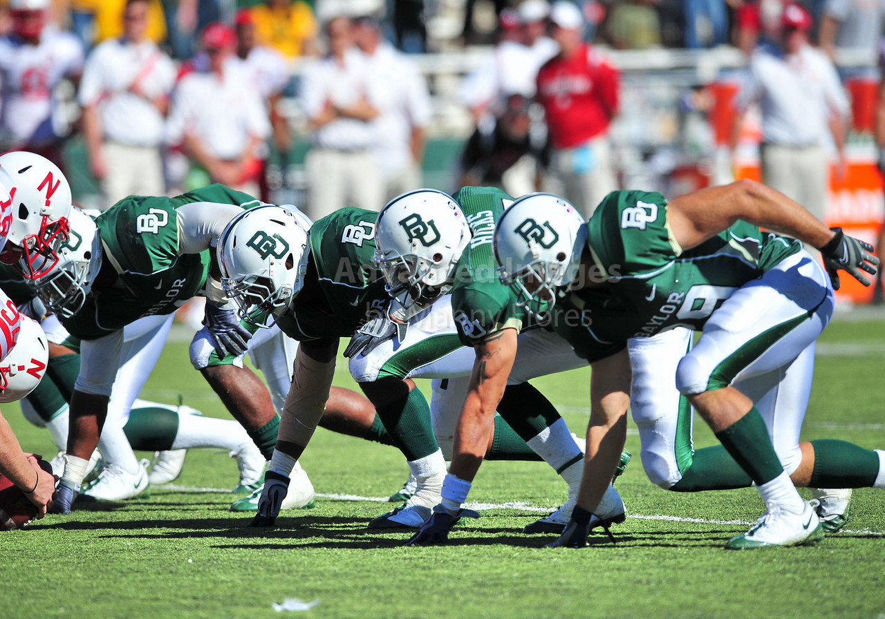 October 31st, 2009:  <br /> Baylor Defense front line in action during a NCAA Football game between the Nebraska Cornhuskers and Baylor Bears at Floyd Casey  Stadium in Waco, TX.  <br /> Nebraska wins 20-10.