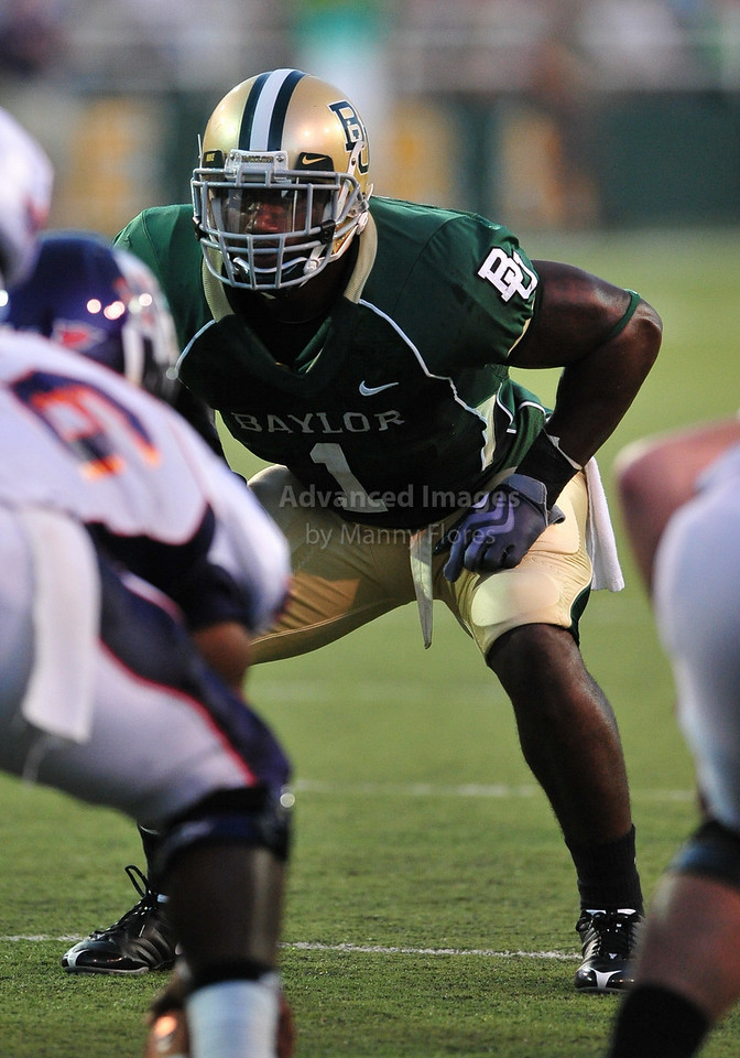 September 26th 2009:  <br /> Baylor linebacker Earl Patin #1<br /> in action during a NCAA Football game between the Baylor Bears and the Northwestern State Demons at Floyd Casey  Stadium in Waco, TX.  <br /> Baylor wins 68-13
