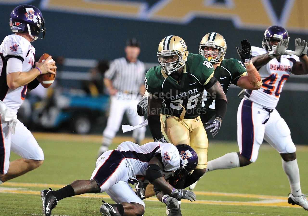 September 26th 2009:  <br /> Baylor linebacker Chris Francis #36<br /> in action during a NCAA Football game between the Baylor Bears and the Northwestern State Demons at Floyd Casey  Stadium in Waco, TX.  <br /> Baylor wins 68-13