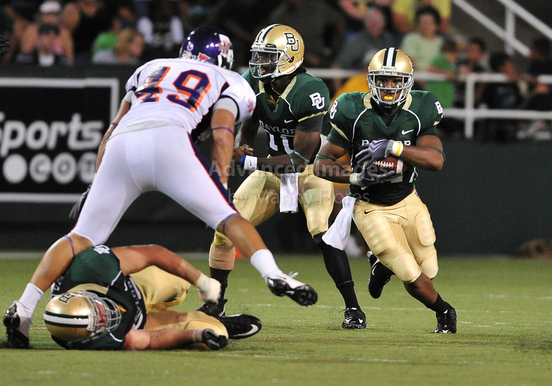 September 26th 2009:  <br /> Baylor running back Jarred Salubi #21<br /> in action during a NCAA Football game between the Baylor Bears and the Northwestern State Demons at Floyd Casey  Stadium in Waco, TX.  <br /> Baylor wins 68-13