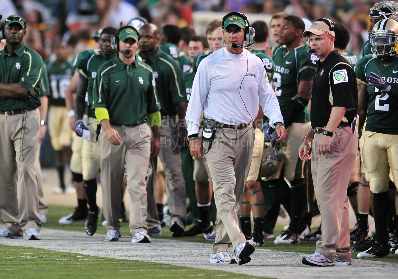September 26th 2009:  <br /> Baylor Head Coach Art Briles<br /> in action during a NCAA Football game between the Baylor Bears and the Northwestern State Demons at Floyd Casey  Stadium in Waco, TX.  <br /> Baylor wins 68-13
