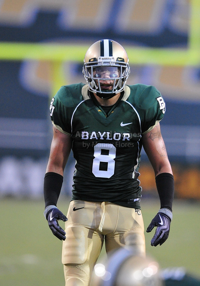 September 26th 2009:  <br /> Baylor RCB Tim Atchison #8<br /> in action during a NCAA Football game between the Baylor Bears and the Northwestern State Demons at Floyd Casey  Stadium in Waco, TX.  <br /> Baylor wins 68-13