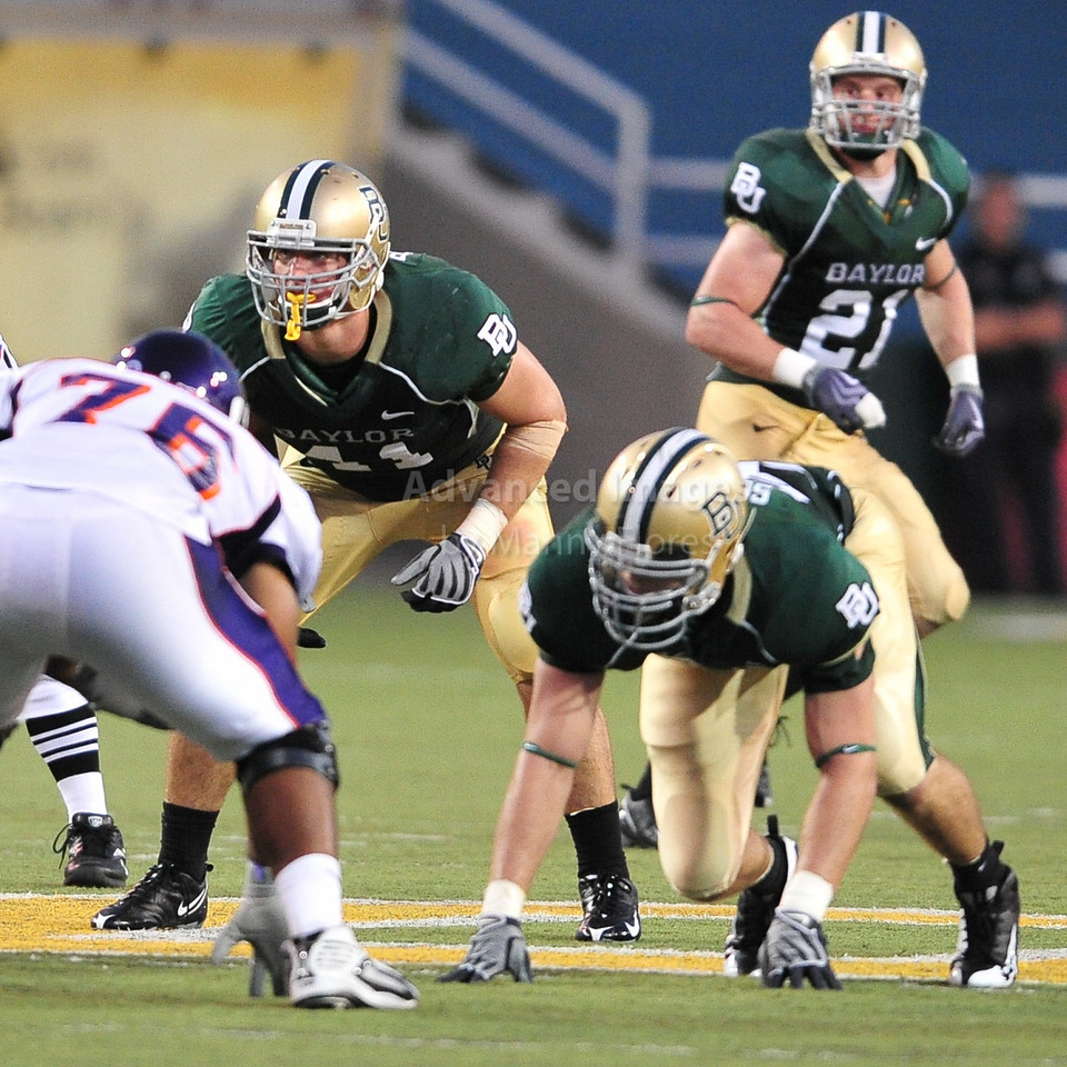 September 26th 2009:  <br /> Baylor linebacker Joe Pawelek #41<br /> in action during a NCAA Football game between the Baylor Bears and the Northwestern State Demons at Floyd Casey  Stadium in Waco, TX.  <br /> Baylor wins 68-13