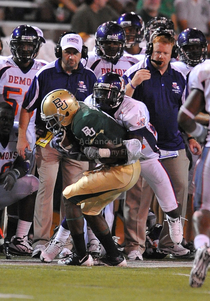 September 26th 2009:  <br /> Baylor wide receiver Lanear Sampson #18<br /> in action during a NCAA Football game between the Baylor Bears and the Northwestern State Demons at Floyd Casey  Stadium in Waco, TX.  <br /> Baylor wins 68-13