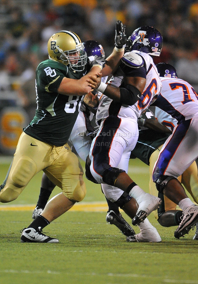 September 26th 2009:  <br /> Baylor defensive tackle Jason Lamb #88<br /> in action during a NCAA Football game between the Baylor Bears and the Northwestern State Demons at Floyd Casey  Stadium in Waco, TX.  <br /> Baylor wins 68-13