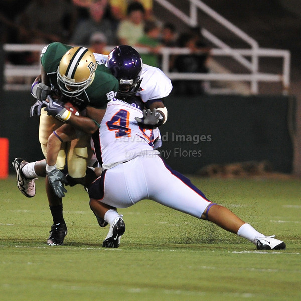 September 26th 2009:  <br /> Northwestern State's Blake Delcambre #49<br /> in action during a NCAA Football game between the Baylor Bears and the Northwestern State Demons at Floyd Casey  Stadium in Waco, TX.  <br /> Baylor wins 68-13