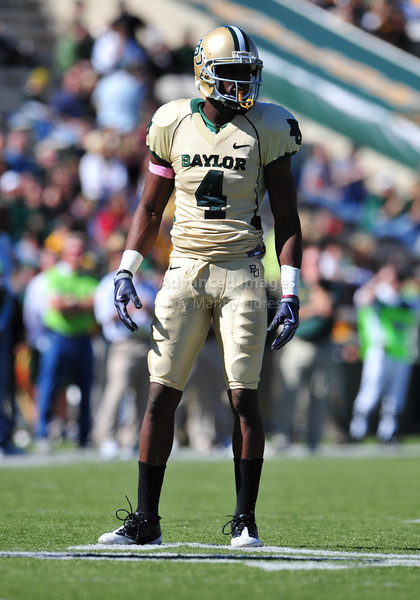 October 24th, 2009:  <br /> Baylor safety Jeremy Williams #4<br /> in action during a NCAA Football game between the Oklahoma State Cowboys and Baylor Bears at Floyd Casey  Stadium in Waco, TX.  <br /> Oklahoma State wins 34-7.