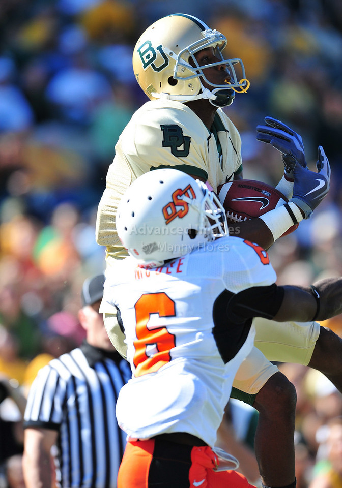 October 24th, 2009:  <br /> Baylor wide receiver David Gettis #4<br /> in action during a NCAA Football game between the Oklahoma State Cowboys and Baylor Bears at Floyd Casey  Stadium in Waco, TX.  <br /> Oklahoma State wins 34-7.