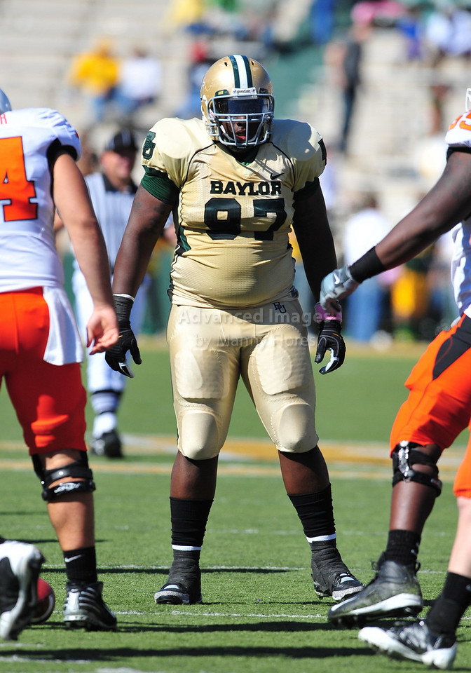 October 24th, 2009:  <br /> Baylor NT Trey Bryant #97<br /> in action during a NCAA Football game between the Oklahoma State Cowboys and Baylor Bears at Floyd Casey  Stadium in Waco, TX.  <br /> Oklahoma State wins 34-7.