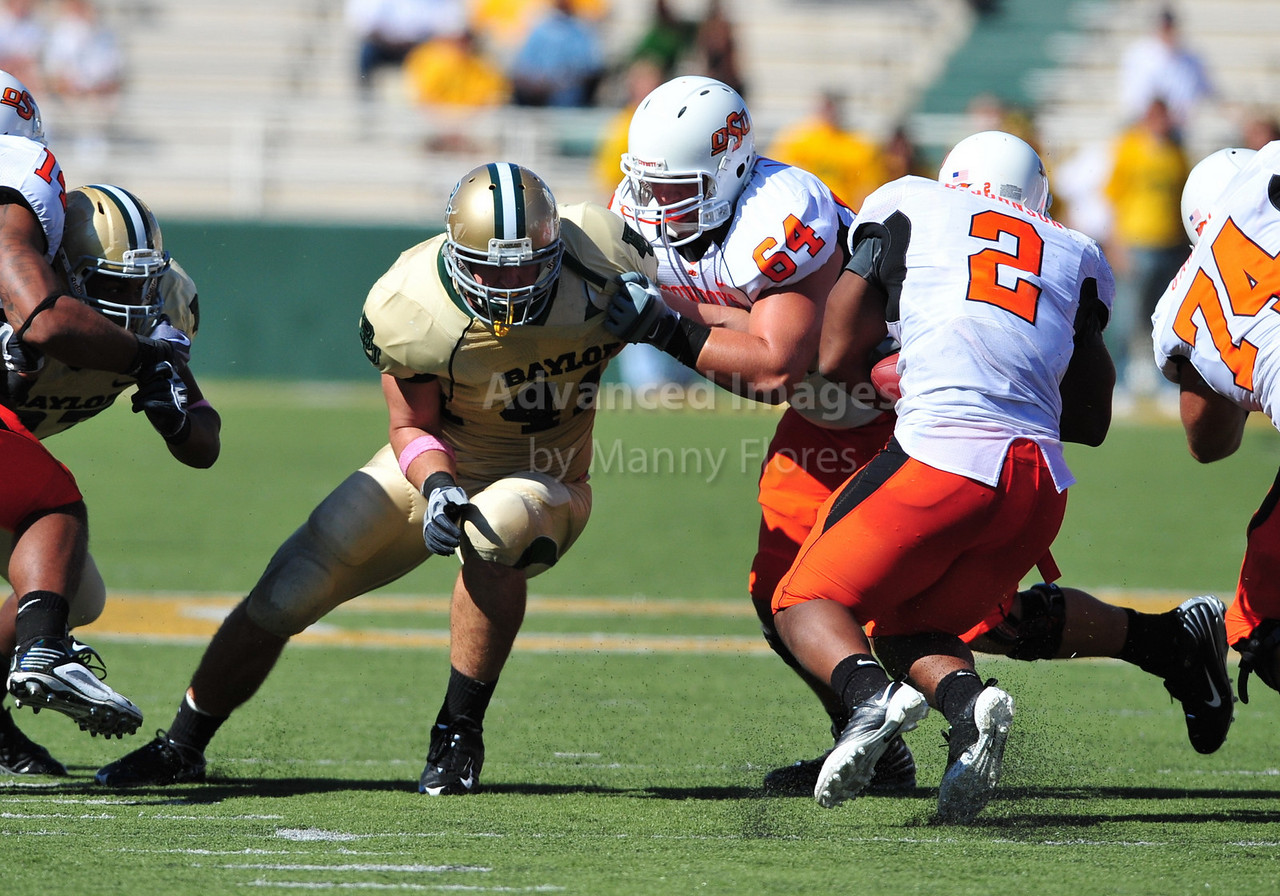 October 24th, 2009:  <br /> Baylor linebacker Joe Pawelek #41<br /> in action during a NCAA Football game between the Oklahoma State Cowboys and Baylor Bears at Floyd Casey  Stadium in Waco, TX.  <br /> Oklahoma State wins 34-7.