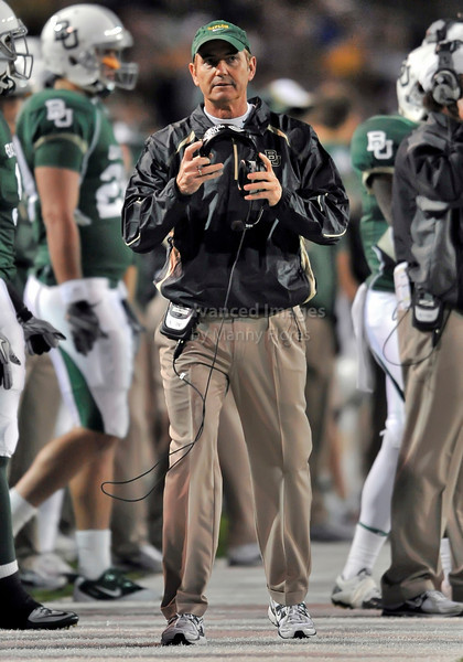 13 Nov 2010:  <br /> Baylor Bears head coach Art Briles in action<br /> of their NCAA football game between the Texas A&M Aggies and the Baylor Bears at Floyd Casey Stadium in Waco, Texas.<br /> The Aggies beat the Bears 42-30.