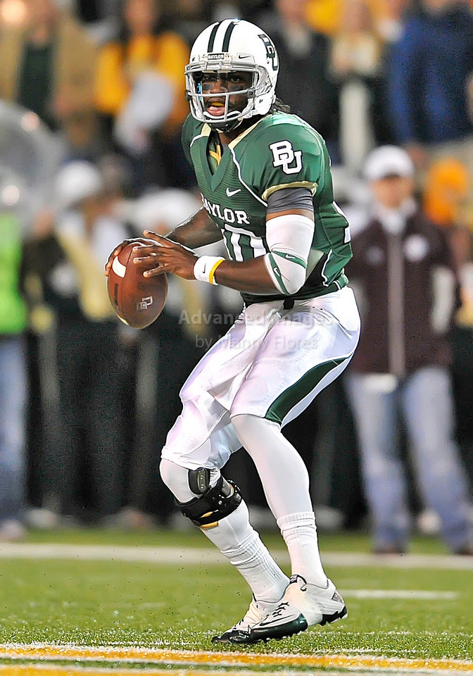 13 Nov 2010:  <br /> Baylor Bears quarterback Robert Griffin III #10 looks down field<br /> of their NCAA football game between the Texas A&M Aggies and the Baylor Bears at Floyd Casey Stadium in Waco, Texas.<br /> The Aggies beat the Bears 42-30.