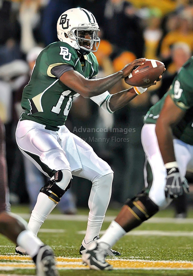 13 Nov 2010:  <br /> Baylor Bears quarterback Robert Griffin III #10 in action<br /> of their NCAA football game between the Texas A&M Aggies and the Baylor Bears at Floyd Casey Stadium in Waco, Texas.<br /> The Aggies beat the Bears 42-30.