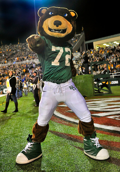 13 Nov 2010:  <br /> Baylor Bears Mascot in action<br /> of their NCAA football game between the Texas A&M Aggies and the Baylor Bears at Floyd Casey Stadium in Waco, Texas.<br /> The Aggies beat the Bears 42-30.