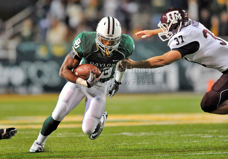 13 Nov 2010:  <br /> Baylor Bears running back Jay Finley #23 carries the ball of their NCAA football game between the Texas A&M Aggies and the Baylor Bears at Floyd Casey Stadium in Waco, Texas.<br /> The Aggies beat the Bears 42-30.