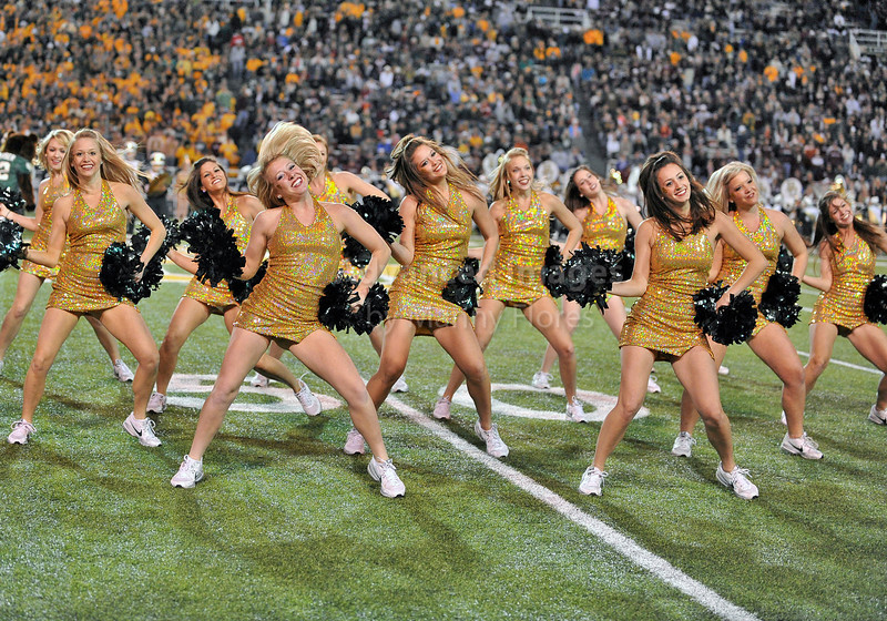 13 Nov 2010:  <br /> Baylor Bears cheerleaders in action<br /> of their NCAA football game between the Texas A&M Aggies and the Baylor Bears at Floyd Casey Stadium in Waco, Texas.<br /> The Aggies beat the Bears 42-30.