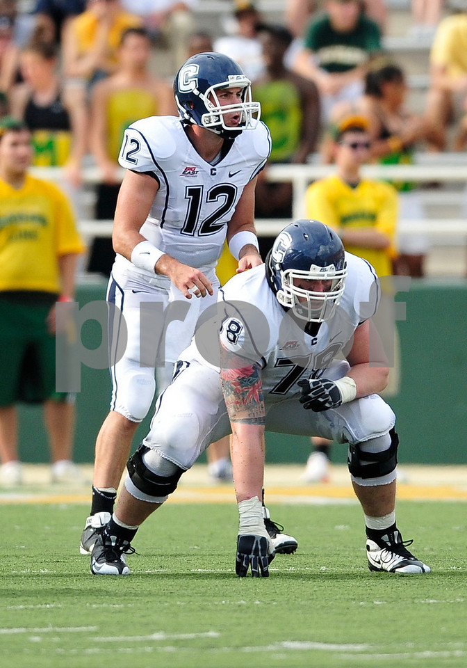 September 19th 2009:  <br /> Connecticut guard Zach Hurd (78)<br /> in action during a NCAA Football game between the Baylor Bears and the University of Connecticut at Floyd Casey  Stadium in Waco, TX.  <br /> Baylor loses to UConn 30-22