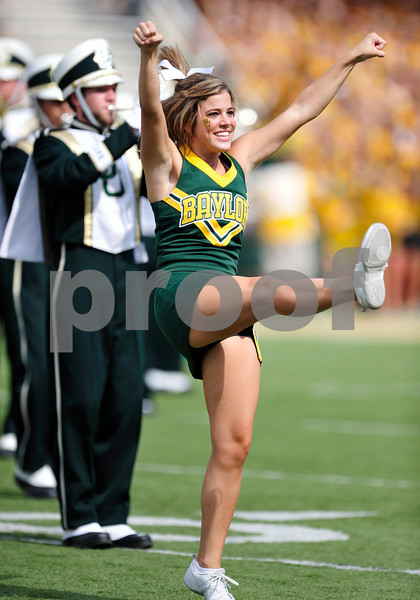 September 19th 2009:  <br /> Baylor Cheerleaders<br /> in action during a NCAA Football game between the Baylor Bears and the University of Connecticut at Floyd Casey  Stadium in Waco, TX.  <br /> Baylor loses to UConn 30-22