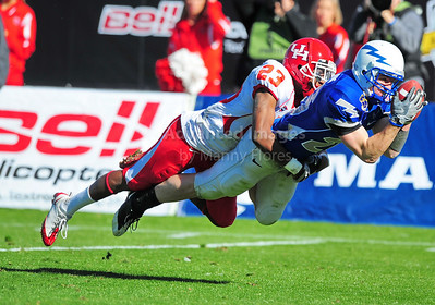 December 31, 2008:   Air Force WR Spencer Armstrong #26 Houston safety Carson Blackmon #23 in action during the NCAA Football game between the Houston Cougars and the Air Force Falcons at the Bell Helicopter Armed Forces Bowl in Ft. Worth, TX.  Houston defeated Air Force 34-28. Manny Flores/CSM