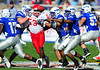 December 31, 2008:  <br /> Air Force quarterback Eric Herbort #7<br /> Houston defensive end Phillip Hunt #53<br /> in action during the NCAA Football game between the Houston Cougars and the Air Force Falcons at the Bell Helicopter Armed Forces Bowl in Ft. Worth, TX.  Houston defeated Air Force 34-28. Manny Flores/CSM