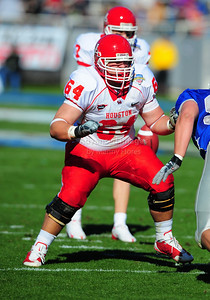 December 31, 2008:   Houston OL Michael Bloesch #64 in action during the NCAA Football game between the Houston Cougars and the Air Force Falcons at the Bell Helicopter Armed Forces Bowl in Ft. Worth, TX.  Houston defeated Air Force 34-28. Manny Flores/CSM