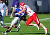 December 31, 2008:  <br /> Houston linebacker Cody Lubojasky #34<br /> Air Force TB Asher Clark #17 in action during the NCAA Football game between the Houston Cougars and the Air Force Falcons at the Bell Helicopter Armed Forces Bowl in Ft. Worth, TX.  Houston defeated Air Force 34-28. Manny Flores/CSM