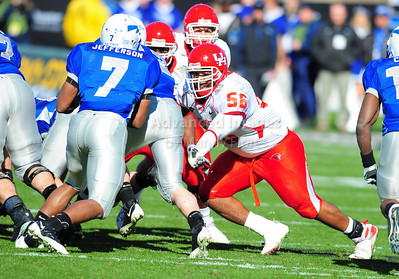 December 31, 2008:   Houston defensive tackle Cody Pree #56 in action during the NCAA Football game between the Houston Cougars and the Air Force Falcons at the Bell Helicopter Armed Forces Bowl in Ft. Worth, TX.  Houston defeated Air Force 34-28. Manny Flores/CSM