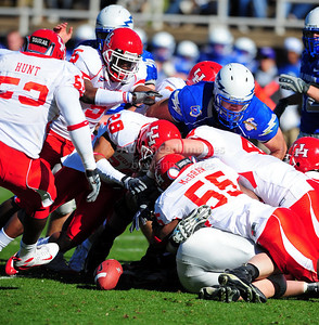 December 31, 2008:   Houston linebacker Marcus McGraw #55 in action during the NCAA Football game between the Houston Cougars and the Air Force Falcons at the Bell Helicopter Armed Forces Bowl in Ft. Worth, TX.  Houston defeated Air Force 34-28. Manny Flores/CSM