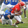 December 31st  2009:  <br /> Houston running back Charles Sims #5 runs for a big gain during the Armed Forces Bowl NCAA Football game between the Air Force Falcons and the Houston Cougars at Amon G. Carter Stadium in Ft. Worth, TX.  <br /> Air Force wins 47-20
