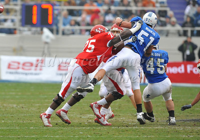 December 31st  2009:   Houston offensive lineman Jarve Dean #75 in action during the Armed Forces Bowl NCAA Football game between the Air Force Falcons and the Houston Cougars at Amon G. Carter Stadium in Ft. Worth, TX.   Air Force wins 47-20