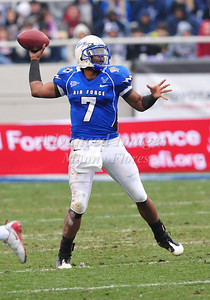 December 31st  2009:   Air Force quarterback Tim Jefferson #7 in action during the Armed Forces Bowl NCAA Football game between the Air Force Falcons and the Houston Cougars at Amon G. Carter Stadium in Ft. Worth, TX.   Air Force wins 47-20