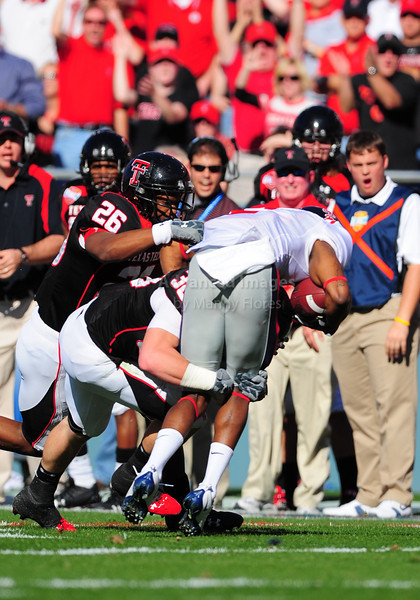 02 January 2009:  <br /> Texas Tech safety LaShawn Vation (26)<br /> & Texas Tech safety Jordy Rowland (38)in action during the NCAA Cotton Bowl game between the Ole Miss Rebels and the Texas Tech Red Raiders in Dallas,TX.  Ole Miss beat Texas Tech 47-34.<br /> Manny Flores/Icon SMI