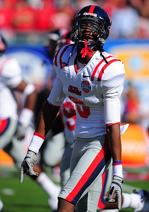 02 January 2009:   Mississippi cornerback Terrell Jackson (5) in action during the NCAA Cotton Bowl game between the Ole Miss Rebels and the Texas Tech Red Raiders in Dallas,TX.  Ole Miss beat Texas Tech 47-34. Manny Flores/Icon SMI