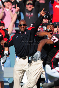 02 January 2009:   Texas Tech Coaches cheering a touchdown return during the NCAA Cotton Bowl game between the Ole Miss Rebels and the Texas Tech Red Raiders in Dallas,TX.  Ole Miss beat Texas Tech 47-34. Manny Flores/Icon SMI
