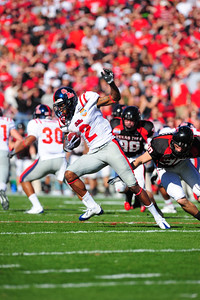 02 January 2009:   Mississippi wide receiver Mike Wallace (2) in action during the NCAA Cotton Bowl game between the Ole Miss Rebels and the Texas Tech Red Raiders in Dallas,TX.  Ole Miss beat Texas Tech 47-34. Manny Flores/Icon SMI
