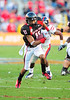 02 January 2009:  <br /> Texas Tech wide receiver Tramain Swindall (11) in action during the NCAA Cotton Bowl game between the Ole Miss Rebels and the Texas Tech Red Raiders in Dallas,TX.  Ole Miss beat Texas Tech 47-34.<br /> Manny Flores/Icon SMI